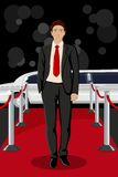 Man on Red Carpet Royalty Free Stock Image