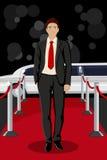 Man on Red Carpet Royalty Free Stock Image