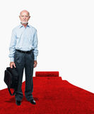 Man on  red carpet Stock Photo