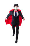 Man in red cover Royalty Free Stock Photography