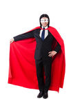 Man in red cover Stock Photography