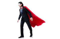 Man in red cover Royalty Free Stock Images