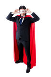 Man in red cover isolated Royalty Free Stock Photography