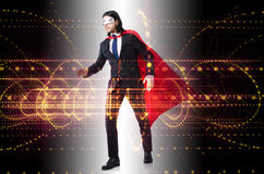The man with red cover in super hero concept. Man with red cover in super hero concept Stock Image