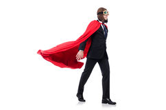 Man in red cover Royalty Free Stock Image