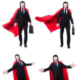 The man in red cover  on white Stock Images