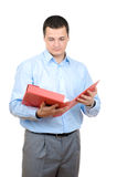 Man with a red folder Royalty Free Stock Photography