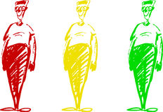 Man - red, green and yellow Royalty Free Stock Photo