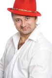 The man in a red hat Stock Photography