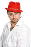 The man in a red hat Stock Images