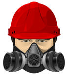The man in the red helmet Royalty Free Stock Photo
