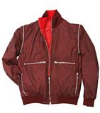 Man red jacket Stock Photos