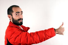 Man with red jacket Royalty Free Stock Photo