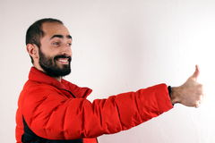 Man with red jacket Stock Photography