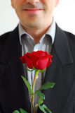 Man red rose Royalty Free Stock Image
