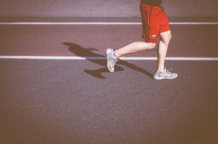 Man in Red Running Shorts Stock Photography