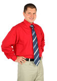 Man in red shirt isolated Royalty Free Stock Photos