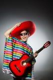 Man in red sombrero Stock Photo