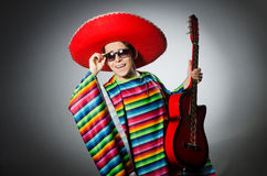 Man in red sombrero Stock Photography