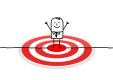 Man on red target stock illustration