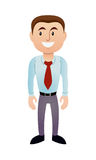 Man with Red Tie. Vector Illustration eps. and Ai. file of man with red tie Stock Photography