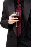 Man with red wine Royalty Free Stock Photo