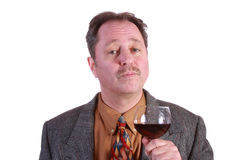 Man with red wine Royalty Free Stock Image