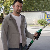 Man Refilling Car Royalty Free Stock Photography