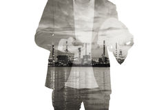 Man with refinary miror Stock Photo