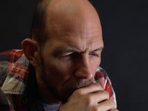 Man Reflecting Royalty Free Stock Photography