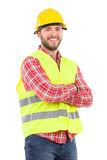 Man in reflective vest and hardhat Royalty Free Stock Photo