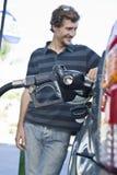 Man Refueling Car At Natural Gas Station Royalty Free Stock Photo