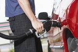 Man Refueling His Car Stock Image