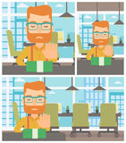 Man refusing bribe vector illustration. Royalty Free Stock Photography