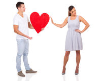 Man rejected girl Royalty Free Stock Photo