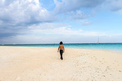 Man relax in vacation on the tropical beach, andaman,koh rok, la Stock Image