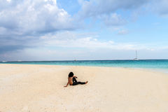 Man relax in vacation on the tropical beach, andaman,koh rok, la Stock Images