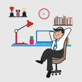 Man relax at work Stock Photos