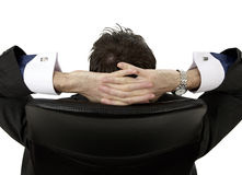 Man relaxing. A office man relaxing in a chair Stock Image