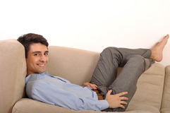 Man relaxing Royalty Free Stock Photo