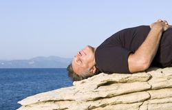 Man relaxing Royalty Free Stock Images