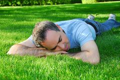 Man relaxing Stock Photography