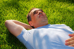 Man relaxing Royalty Free Stock Image