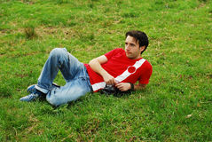 Man relaxing Stock Image