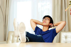Free Man Relaxing At Home Royalty Free Stock Images - 43078429
