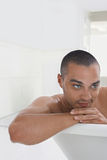 Man Relaxing In Bathtub Royalty Free Stock Photography