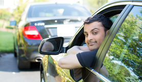 Man relaxing in car Royalty Free Stock Photos