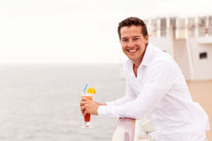 Man relaxing cruise Stock Image