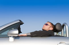 Man relaxing in his car Stock Photos