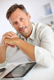 Man relaxing at home Stock Image